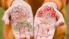 140 The four seasons  Tree pendants Bundle