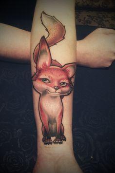 Mój tatuaż <3 Mój lisek <3