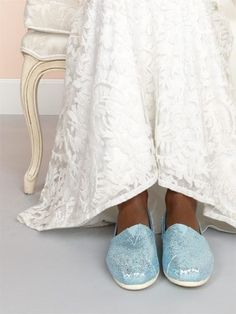 Something blue! Get them here: http://www.toms.com/womens/collections/wedding-styles/c?view=all