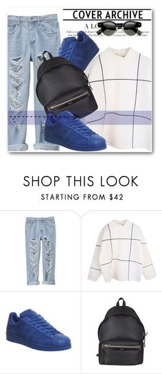 """Untitled #126"" by dianagrigoryan ❤ liked on Polyvore featuring adidas and Yves Saint Laurent"