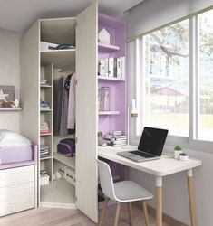 Stunning 36 Elegant Small Kids Room Design Ideas With Smart Saving Space. Home Room Design, Small Room Design, Kids Room Design, House Design, Girl Bedroom Designs, Girls Bedroom, Bedroom Small, Bedrooms, Kids Bedroom Furniture