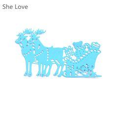 Xmas Deer With Gift Metal Cutting Dies Stencils Decorative Christmas Embossing Scrapbooking Die Cut Metal Cards