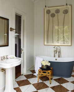 "2,765 Likes, 24 Comments - ELLE DECOR (@elledecor) on Instagram: ""Care for a soak? | Photo: @ericpiasecki; Design: @ritakonig #interiordesign #instahome #instadecor"""