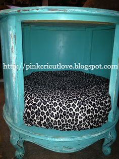 DIY: Thrift Store End Table Turned Into A Dog Bed!!