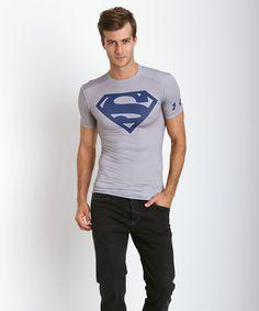 Under Armour Superman Heatgear Compression Shirt Steel 1255037-035 at International Jock Underwear & Swimwear