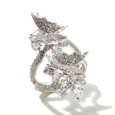 "Victoria Wieck 3.82ctw Absolute™ ""Butterfly"" Ring"