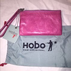 Amazing wristlets, holds phone and space for stuff Pink soft leather hobo wristlet HOBO Bags Clutches & Wristlets