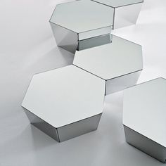 Coffee table / contemporary / stainless steel / aluminum - BASALTO by Simone Cagnazzo - Gallotti & Radice
