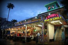 Crabby's Beachwalk Bar & Grill: Restaurant Front.  Fun place to eat in Clearwater.  Nice view of the beach.  Highly recommend the shrimp tacos!