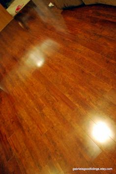How to make hardwood floors shine WITHOUT getting on your hands and knees! Microfiber Cleaning Slippers and grabbed my Method Floor Cleaner.  This is the step that made all the difference, I'm confident!  Sure, the floors were clean after the vacuum and the shark mop, but they didn't shine and sparkle.