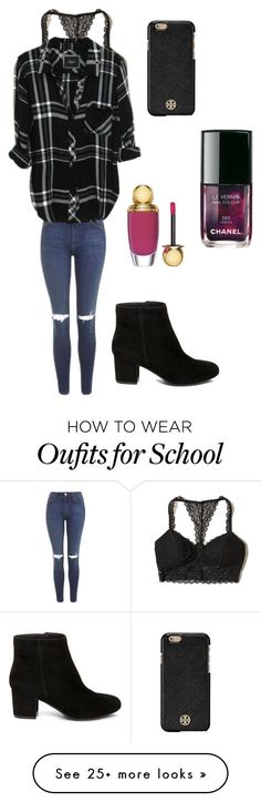 """Open day at school"" by sarahfohlen on Polyvore featuring Steve Madden, Hollister Co., Topshop, Christian Dior, Chanel, Tory Burch, Fall and 2k16"