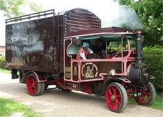 1926 Foden Steam Truck ..  =====>Information=====> https://www.pinterest.com/simonewto/steam-cars-trains-boats-waggons/