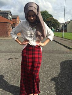 Maryam Rana: That £4.95 tartan print maxi skirt