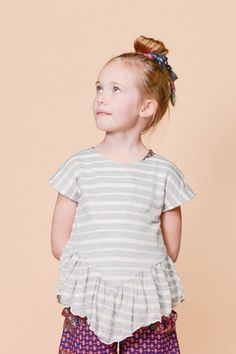 Cluney Stripe Lynch Top, available in sizes 2 to 14 at www.odetojeune.com.