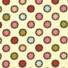 SALE Michael Miller Ginger Blossom Vintage by luckykaerufabric (Craft Supplies & Tools, Fabric, textile, yardage, cotton, fabric, sandi henderson, breeze, vintage dots, michael miller)