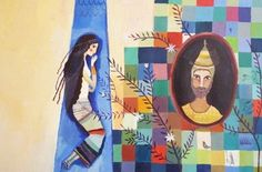 Illustration originale de Aurélia Fronty - Le roi Acrisios   Oeuvres   Galerie Robillard