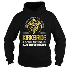 Awesome Tee KIRKBRIDE Blood Runs Through My Veins (Dragon) - Last Name, Surname T-Shirt T shirts