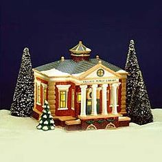 """Department 56: Products - """"Village Public Library"""" - View Lighted Buildings"""