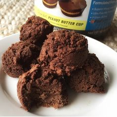 Fudgey PB Cup Select Protein Bites  INGREDIENTS: 1/2 cup coconut flour, 1/2 cup almond flour, 3/4 scoop Peanut Butter Cup Select Protein, 1 Tbsp peanut flour, 1 1/2 Tbsp cocoa powder, heaping 1/2 tsp baking powder, 6 Tbsp egg whites, 3/4 cup almond milk, 1/3 cup chocolate chips METHOD: Mix all ingredients (except chocolate chips) until smooth, then fold in chocolate chips. Form/scoop dough into balls and place on sprayed baking sheet. Bake at 350* F for 12-15 min. Enjoy!