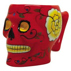 Day of the Dead Skull in Red