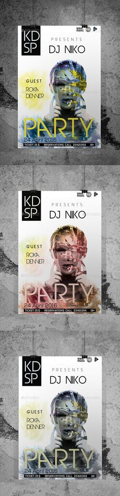 DJ Club Party Flyer/Poster Custom PSD File — Photoshop PSD #nightclub #poster • Available here → https://graphicriver.net/item/dj-club-party-flyerposter-custom-psd-file/15476703?ref=pxcr