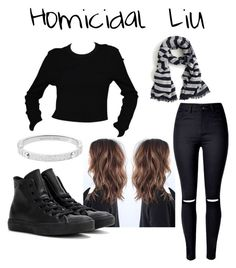 """""""Homicidal Liu"""" by marcykxx ❤ liked on Polyvore featuring art"""
