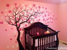 Cherry Blossom Tree Wall Decal - we love this whimsical decal from @popdecors in the nursery, playroom or kids room! #PNpartner