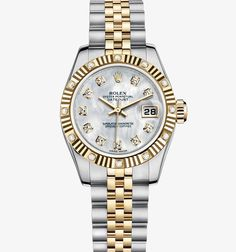 Rolex Lady-Datejust Watch: Yellow Rolesor - combination of 904L steel and 18 ct yellow gold – M179313-0018