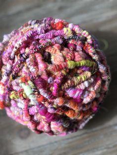 Yarn and Fiber Gallery — 222 Handspun Tapestry Loom, Yarn Twist, Textured Yarn, Yarn Inspiration, Tear, Rainbow Art, Loom Weaving, Hand Dyed Yarn, Art Yarn