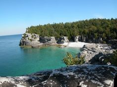 The Bruce Peninsula, which separates Lake Huron from Georgian Bay, is a national park and nature preserve.