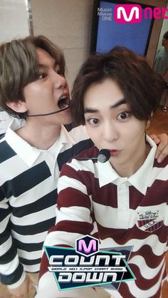 Baekhyun and Xiumin | 150618 M Countdown Twitter Update
