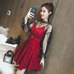 35774e56277 First Love Skirt Dress. Shiny Star · Club Factory