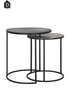 Tranquil is van zichzelf zo een lekkere rustige basis. Wil je wat meer pit, voeg dan wat industriële items toe, een leuke salontafel set zoals de Talca Lood.   #dutchhomelabel#lightandliving#lightliving #talca #salontafel#lood#tranquil#interieurinspiratie#interieurstyling#binnenkijken Large Table, Small Tables, Side Tables, Table Height, Energy Star, Wood Species, Wrought Iron, Brown And Grey, Bulb
