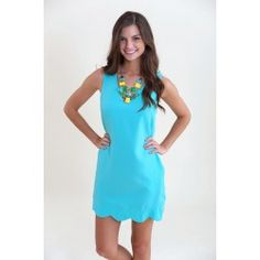 Livin' On the Edge Dress-Aqua - $42.00