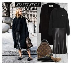 """Pernille Teisbeak ...Major Street Style"" by dragananovcic ❤ liked on Polyvore featuring Acne Studios, Louis Vuitton, Gucci, Alexander Wang and Vetements"