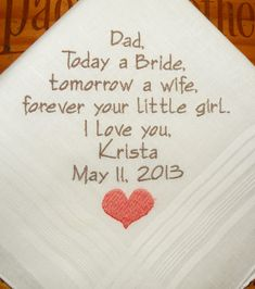 Father of the Bride Personalized  Wedding  by NapaEmbroidery, $28.95