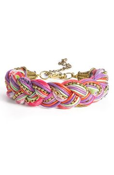 Braided Cord & Chain Bracelet