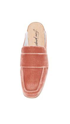 free people velvet mule loafers