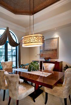 Transitional Dining Room - Raymond Design Studios - Naples, Florida