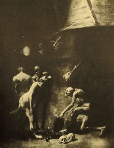 Black As Midnight Black As Pitch Blacker Than The Foulest Witch Francisco Goya, Maleficarum, Horror Photos, My Family Photo, Season Of The Witch, Spanish Artists, Pre Raphaelite, Horror Art, Gravure