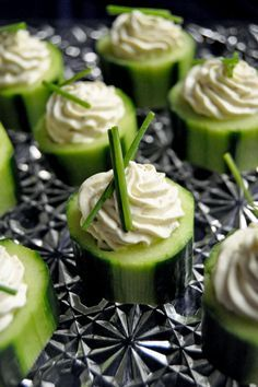 Do It Yourself Cucumber Appetizers -- Perfect for a Ladies Tea Party Wedding Shower http://weddingshows.com