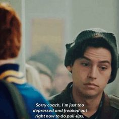 Stay Whelmed — riverrdxle: Jughead is me.