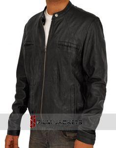 Lambskin 2 Pocket Zipper Wrinkle Leather Jacket