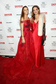 Co-chair Charlotte Santo Domingo and co-founder and global ambassador Katharina Harf at the #BloodBall red carpet.  Photo Credit: Monica Schipper