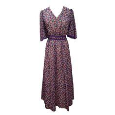 1970s floaty floral vintage maxi dress - Love Miss Daisy Vintage