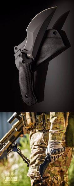 Hardcore Hardware Australia Razorback Fixed Blade Kali Fighting Knife - AKA: I think I'm a Navy Seal gear