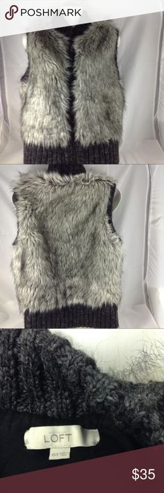 Faux fur vest The loft, faux fur, size xs/s, excellent condition. LOFT Jackets & Coats Vests