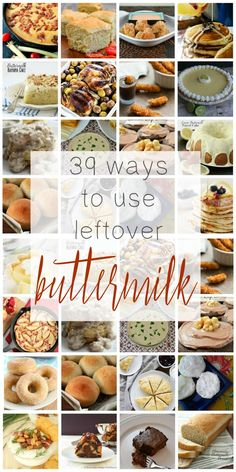 If you're always trying to figure out what to do with the leftover buttermilk…