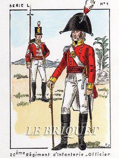 Ufficiale e fuciliere del 20 rgt. fanteria di linea inglese