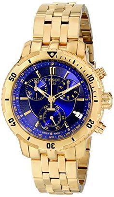 Tissot PRS-200 Men's Blue Chronograph Dial Yellow Gold Wa... https://smile.amazon.com/dp/B0051DA9A2/ref=cm_sw_r_pi_dp_x_ZsE4xbJJS2RQS